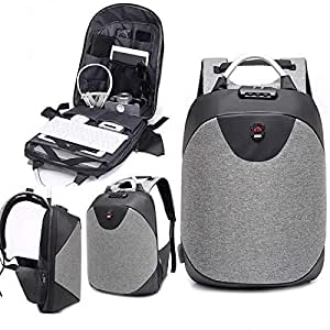 Owme Anti Theft Backpack Waterproof 15.6 Inch Laptop Bag USB Charging Port 30 Ltrs Travel Hiking Fashion Business Bag for Men Women Unisex School College Office - with Lock