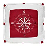 Navyline Deko Kissen mit Kompassrose mit Füllung, Farbe:rot