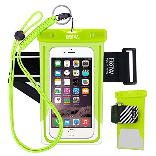EOTW Wasserdichte Hülle Beutel Tasche,wasserfeste handyhuelle,Handyhülle,Staubdichte Schützhülle für Samsung Galaxy S8 / S7 edge, iPhone 7/ Plus, 6 s/ 6 plus, Huawei P8 usw bis zu 6 Zoll (Grün)