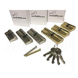 SecEuro Euro PVC Door Lock NICKEL 35/55mm with 5 Keys Anti Drill Pick Bump Snap
