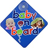 Baby Grow Baby On Board Safety Car Tag Set Of 2 (Ship Random 2 Design Out of 4)