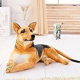VERCART Tier Kuscheltier Stofftier Plüschtiere Plüsch Kinderspielzeug Braun 90cm Hund