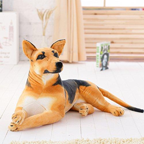 VERCART Tier Kuscheltier Stofftier Plüschtiere Plüsch Kinderspielzeug Braun 75cm Hund (Riesen Hund Baby)