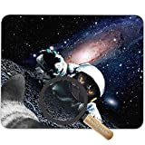 Astronaut Space Cat Humor Animal Game Customized Non-Slip Rubber Mousepad Funny Space Rescue High Definition Images Mouse Pad