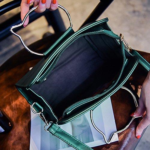 damen Schulter messenger bag Scrub metall kleine quadratische tasche Grün