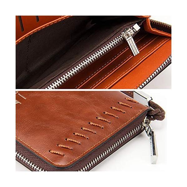 519rPqsl4TL. SS600  - Young & Ming - Grande Cartera Piel Billetera de cuero Hombre y Mujer para tarjeta de crédito