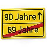 DankeDir! 90 Jahre (89 Jahre Vorbei) - Kunststoff Schild, Geschenk 90. Geburtstag, Geschenkidee Geburtstagsgeschenk Neunzigsten, Geburtstagsdeko/Partydeko / Party Zubehör/Geburtstagskarte