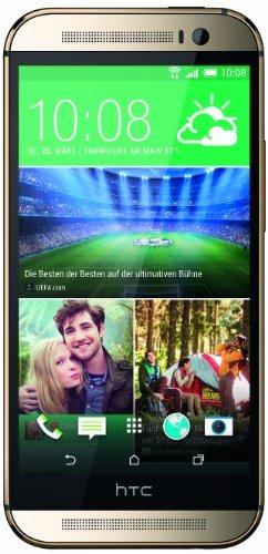 HTC One (M8) Smartphone (12,7 cm (5 Zoll) LCD-Display, Quad-Core, 2,3GHz, 2GB RAM, 5 Megapixel Kamera, FM-Radio, Android 4.4.2) gold (Generalüberholt)