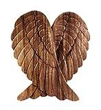 Windalf Fairy Holzbild Amanda h: 22 cm Engels Flügel Holzdeko Handarbeit aus Holz
