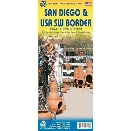 International Travel Maps San Diego & USA SW Border: Old Town san Diego, Tijuana, San Diego & Tijuana Region