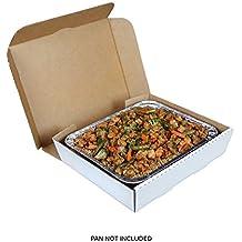 """Mitad Pan Blanco 13""""x 10–7/8"""" x 3""""corrugado caja de catering, caso de 50"""