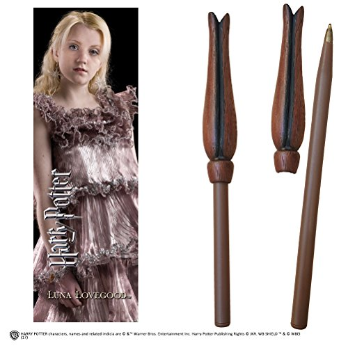 Noble Collection Harry Potter Wand Pen and Bookmark of Luna Lovegood