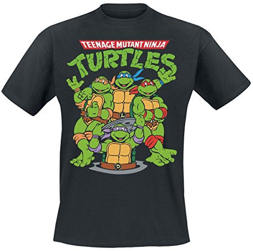 Teenage Mutant Ninja Turtles Group T-Shirt schwarz ()