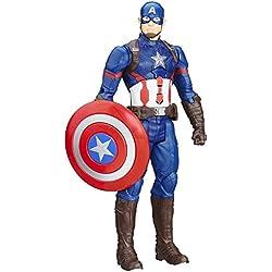 Marvel Titan Hero Serie Figura del Capitán América electrónica