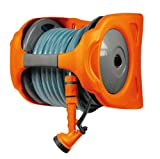 PAPILLON 93178 Avvolgitubo in Plastica con Tubo, Doppio Uso, Arancione/Grigio