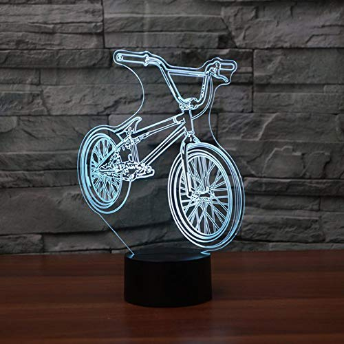 Mountain BikeLed 3D Night Light Colorful Atmosphere Remote Control Vision Stereo Lamp Acrylic 3D Lamp As Great Gifts
