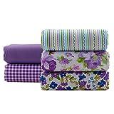 5Stoffe Lilas Mauve für Kissen und Textil, Bettdecken,