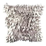 Kissenbezug Bett Kissen Cover sunnymi Einfarbig Art 3D Design Sofa Taille Wurf Home Decor (Grau, 43cm*43cm)