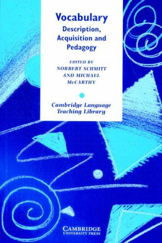 Vocabulary: Description, Acquisition and Pedagogy (Cambridge Language Teaching Library) by Norbert Schmitt (Editor), Michael McCarthy (Editor)  Visit Amazon's Michael McCarthy Page search results for this author Michael McCarthy (Editor) (15-Jan-1998) Paperback