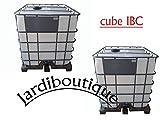 Zwei Tanks IBC 1000L für Wasserspeicher