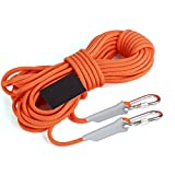 ERHANG Klettern Seil Outdoor Sicherheit Rettung Abriebfestes Seil Survival Equipment Supplies,Orange-30m*8mm