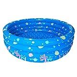 Lommer Kinder Schwimmbad, 130*42CM Kinder Pool Rund Einfach Planschbecken Baby Pool Schwimmbecken Wasserspielplatz für Kinder (Blau)