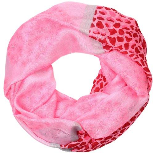 CASPAR Echarpe tube pour femme/Foulard / motifs léopard et fleurs - plusieurs coloris - SC287