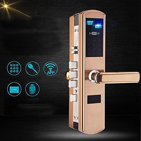 MS Edelstahl App Passwort Kreditkarte Fingerabdruck Lock Home Security Door Intelligente elektronische Fingerabdruck Lock (Encrypted Disk-)
