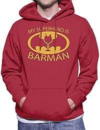Batman My Hero Is Barman Men's Hooded Sweatshirt