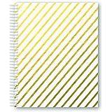 MiquelRius 2411–Cahier A5Carreaux rayés blanc golden