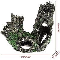 Komener Aquarium Ornament Pecera de Acuario Ocultar Cueva de Adorno Casa para la cría de camarones Cueva