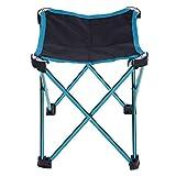 Camping Hocker Faltbar Leicht Aluminium Klappbar Ultralight Anti-Rutsch Klapphocker Stuhl zum Wandern Angeln Reise By Alxcio
