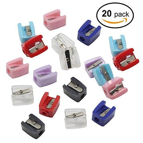20 PC Handbuch Make-up Anspitzer, 5.6-8mm doppelte Größe für kleinen dünnen Eyeliner Lipliner...