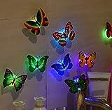 Ouneed® Wandaufkleber Wandtattoo Wandsticker , 10 Stück 3D Schmetterling LED Nachtlicht Licht Wandaufkleber Wandtattoo für Kinderzimmer Babyzimmer Funktions Dekoration