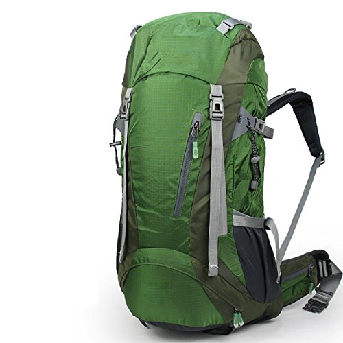 Outdoor-Multifunktions-Breathable Travel Wasserdichter Wanderrucksack,Black Green