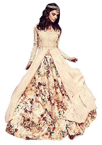 Active Feel Free Life Women's Georgette Dress Material (S012-Maskeen-Beige-OLS1_Free Size_Beige)