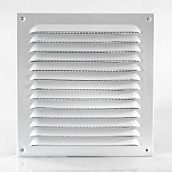 Klimapartner WGQW 200 - Aluminium Weather Protection Grille Fixed Louvred