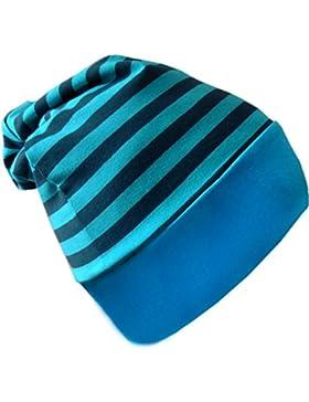 Baby Beanie Mütze gestreift / in 7 Designs / Größen 0-36 Monate
