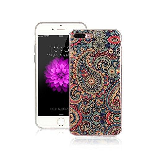 Voguecase Für Apple iPhone 7 Plus 5.5 hülle, Schutzhülle / Case / Cover / Hülle / TPU Gel Skin (Schneeberg 02) + Gratis Universal Eingabestift Bunt Blumen 05