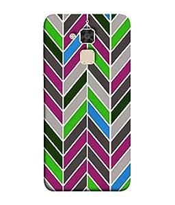 Nextgen Designer Mobile Skin for Asus Zenfone 3 Max ZC520TL (5.2 Inches) (Green Lines Black Grey Brown Beige)