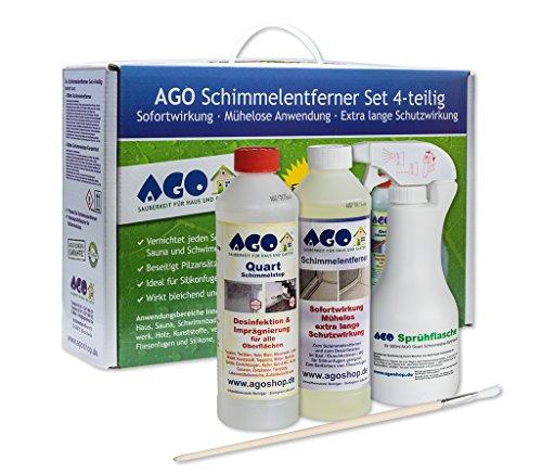 AGO Schimmelentferner Set 4tlg. Premium Konzentrat zum Schimmel entfernen...