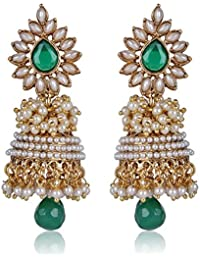 Shining Diva Bollywood Inspired Traditional Pearl Stylish Fancy Party Wear Jhumka/Jhumki Earrings For Girls and Women