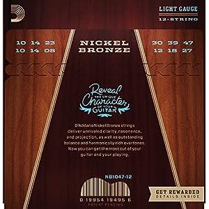 D'addario Nb1047 Extra Light Nickel/bronze Acoustic Guitar String