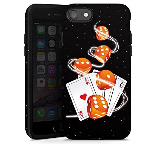 Apple iPhone X Silikon Hülle Case Schutzhülle Würfel Herz Karten Tough Case glänzend