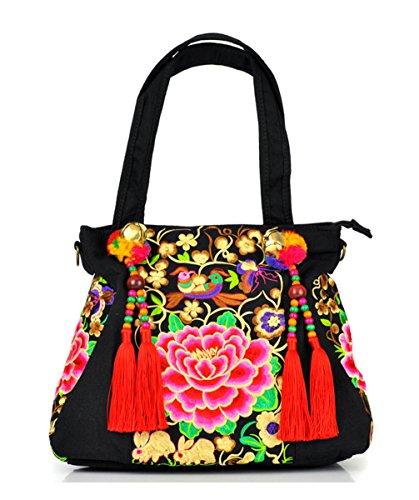 Keshi Cool Damen Handtaschen, Hobo-Bags, Schultertaschen, Beutel, Beuteltaschen, Trend-Bags, Velours, Veloursleder, Wildleder, Tasche Mehrfarbig 3