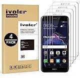 iVoler [4 Unidades] Protector de Pantalla para Huawei P8 Lite 2017, Cristal Vidrio Templado Premium