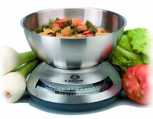Lacor - 61713 - Bascula mecanica Cocina Con bowl Inox