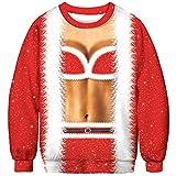 U LOOK UGLY TODAY Unisex Sweatshirt 3D Druck Pullover Weihnachtpullover Hoodie Langarm Bunte Rundhals Sweatjacke für Damen und Herren