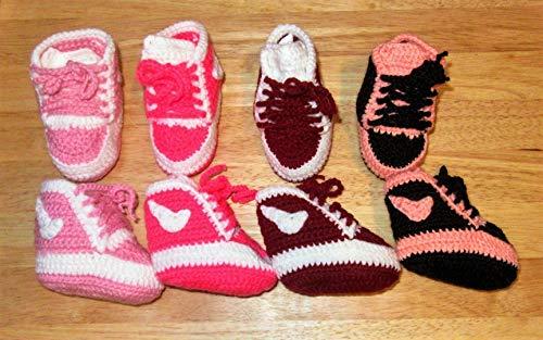 Babyschuhe/Babysocken/Söckchen/Chucks/Baby/Sohlenlänge ca. 8-9 cm/verschiedenen Farben/selbst gehäkelt/hand gemacht/Baby/Kinder/Schuh/Socken/Kleinkind/Schuhe/Stiefel/Hausschuhe