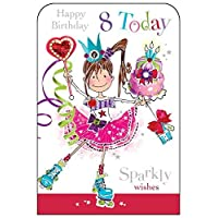 Jonny Javelin Girl Age 8 Birthday Card